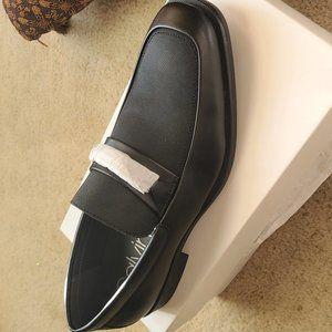 Calvin Klein Black Ernest Embossed Loafers - Black
